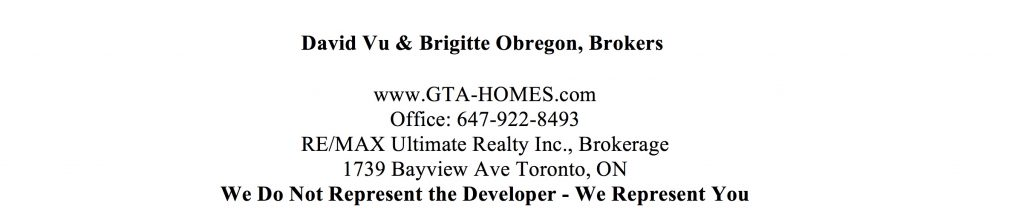 DuEast Condos Sales Agents